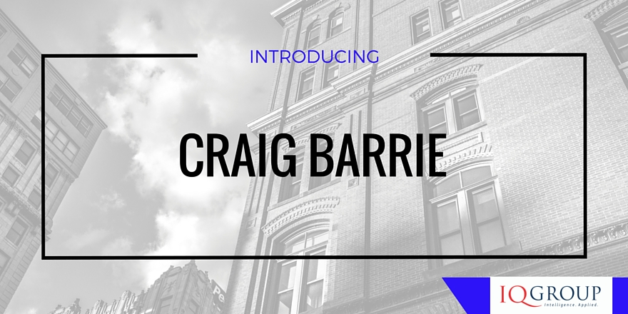 Introducing you to the exceptional project delivery talents of Craig Barrie