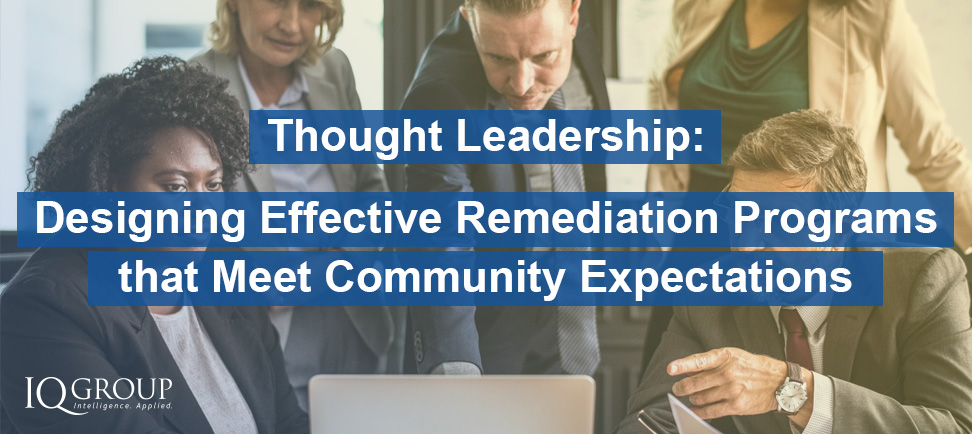 Designing Effective Remediation Programs that Meet Community Expectations